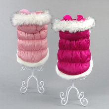 Dogs Down Jackets Warm Pets Winter Princess Style Thicken Cotton Padded Clothes