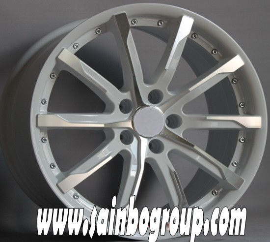 5x100 white car rims for sale, alloy wheel car, aftermarket wheel rims china wholesale