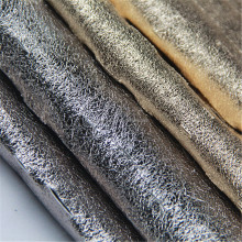 china manufacture alibaba bulk produce polyester spandex weft knit shiny gold foiled suede clothing/garment/apparel fabric