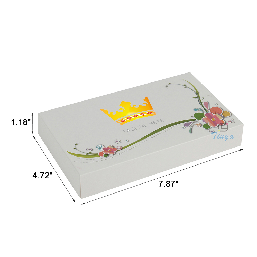 white rectangle dividers cardboard custom cake boxes