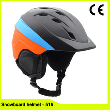 In mold Winter outdoor skiing helmet snow sport ski equipment snowboard skate helmet with goggle strap and mini visor