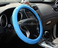 2015 hot selling custom printed logo car silicone shrink steering wheel cover