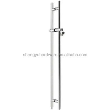 Stainless Steel glass door handle with lock CY12A121