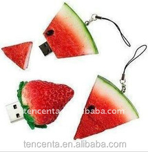 watermelon shape PVC usb flash drive OEM best selling usb wholesale