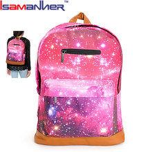 Latest fashion customized print teenager bag school galaxy backpack