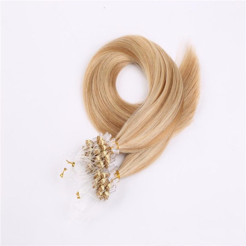 alli express Wholesale100% remy virgin human micro links hair extension 26inch Micro ring loop real indian hair extensions