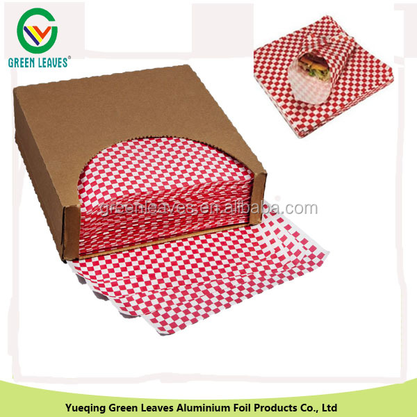 Greaseproof Paper for sandwich wrapping