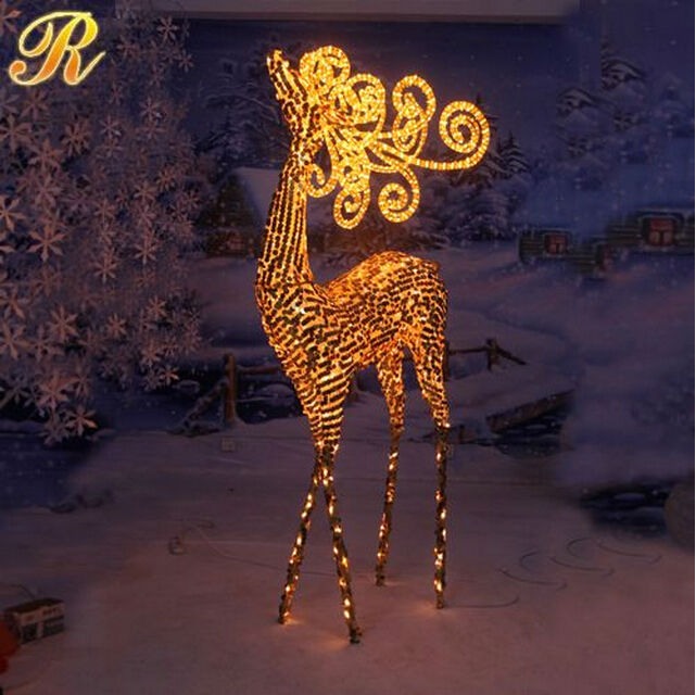 3d reindeer figures led christmas light