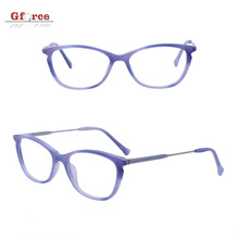 2018 new model women metal temple fashionable colorful acetate spectacle cat stock optical eye glasses eyeglasses frames