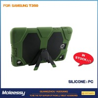 Fashionable army green 8 inch silicone tablet case for samsung T350