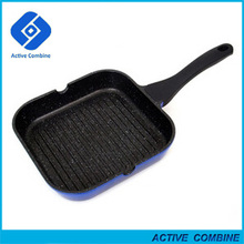 New 24/28cm Die-Cast Aluminum Non-stick Lotus Induction Fry Pan Square Grill Pan