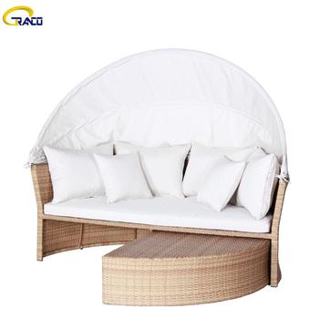 Best patio furniture garden sofa outdoor rattan round wicker sofa