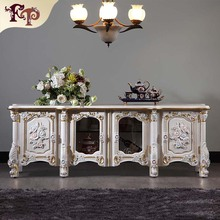 European style furniture living room floor cabinet high end classic furniture