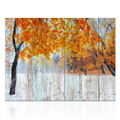 Nature Landscape Painting Printed Canvas Art Woodboard Painting Wall Picture Giclee Printing for Living Room