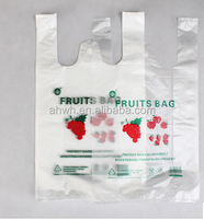 Food grade plastic t shirt bag,HDPE plastic bag