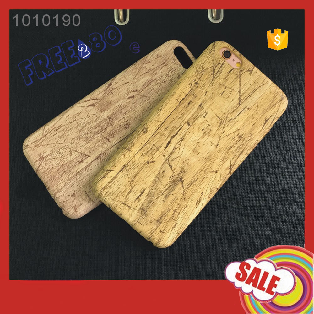2016 bamboo grain soft case 4.7/5.5 inch bamboo PU mobile phone case for iphone 6 6s plus