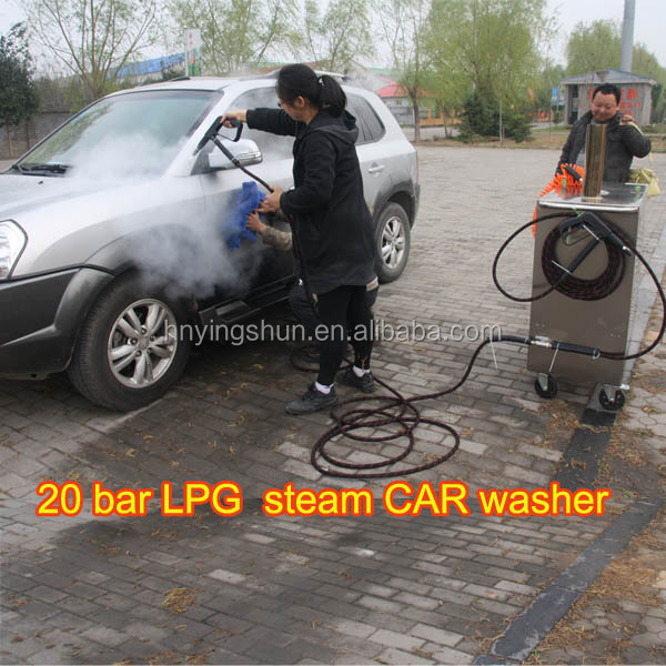 CE no boiler 30 bar diesel dry wet steam cleaner/ vapor car wash vacuum cleaners exterior system