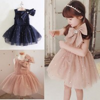 Children Latest Dress Style Kids Wedding Party Dresses Wholesale With Decoration Flowers