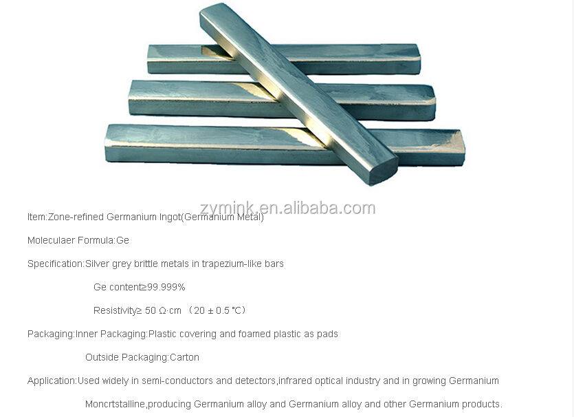 High Pure Rare Earth Chinese Metal Germanium Factory Price