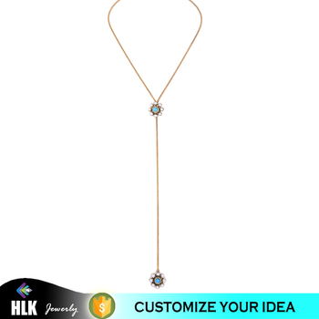 Wholesale Fashion Jewellery Various Color Pearls Gold Plated Chain Necklace