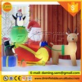 inflatable santa claus with reindeer sled
