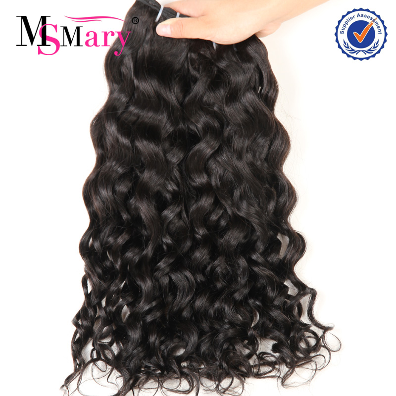 Virgin hair bundles 7a grade brazilian natural black wavy soprano human hair