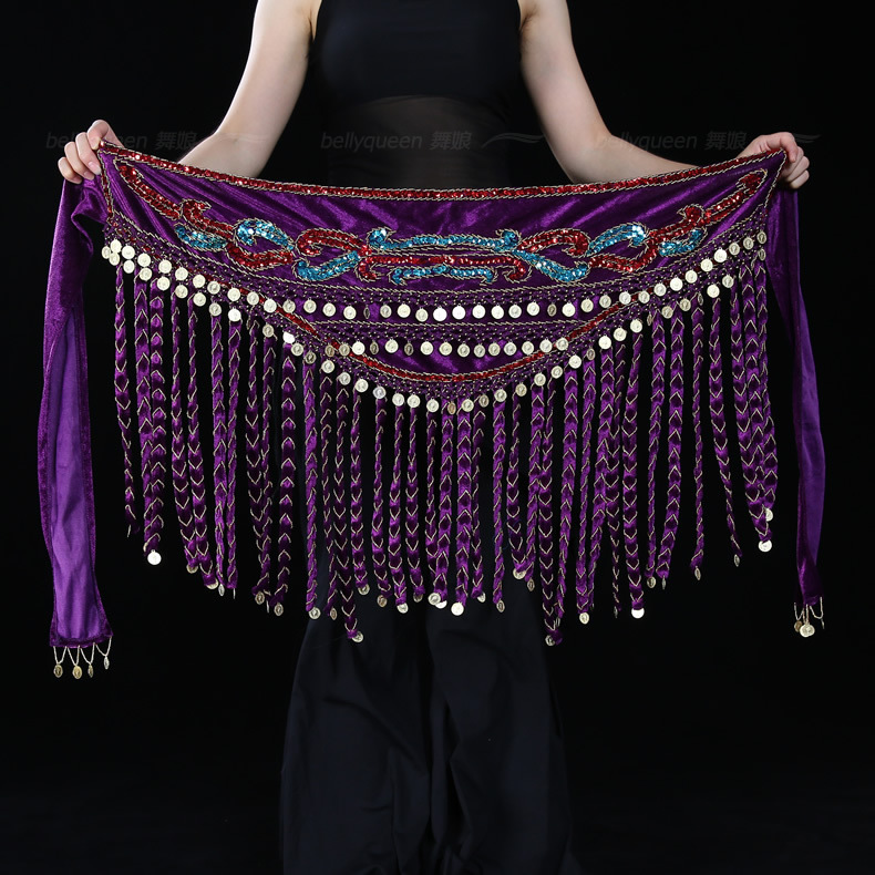 2015 New Style Belly Dance Hip Scarf,BellyQueen
