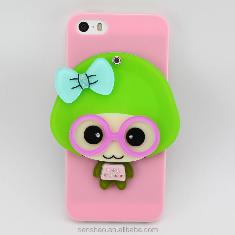 3D cartoon mirror case for iphone4