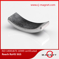 China strong permanent rare earth arc neodymium magnet with good performance for car , certificated by ISO16949:2009