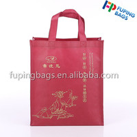 Supplier customized non woven gift tote shopping bag with golden printing for promoting