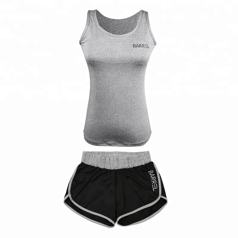 Custom Women Sports Wear Women Fitness Yoga Tank Top And Shorts Set Of Sportswear Fitness