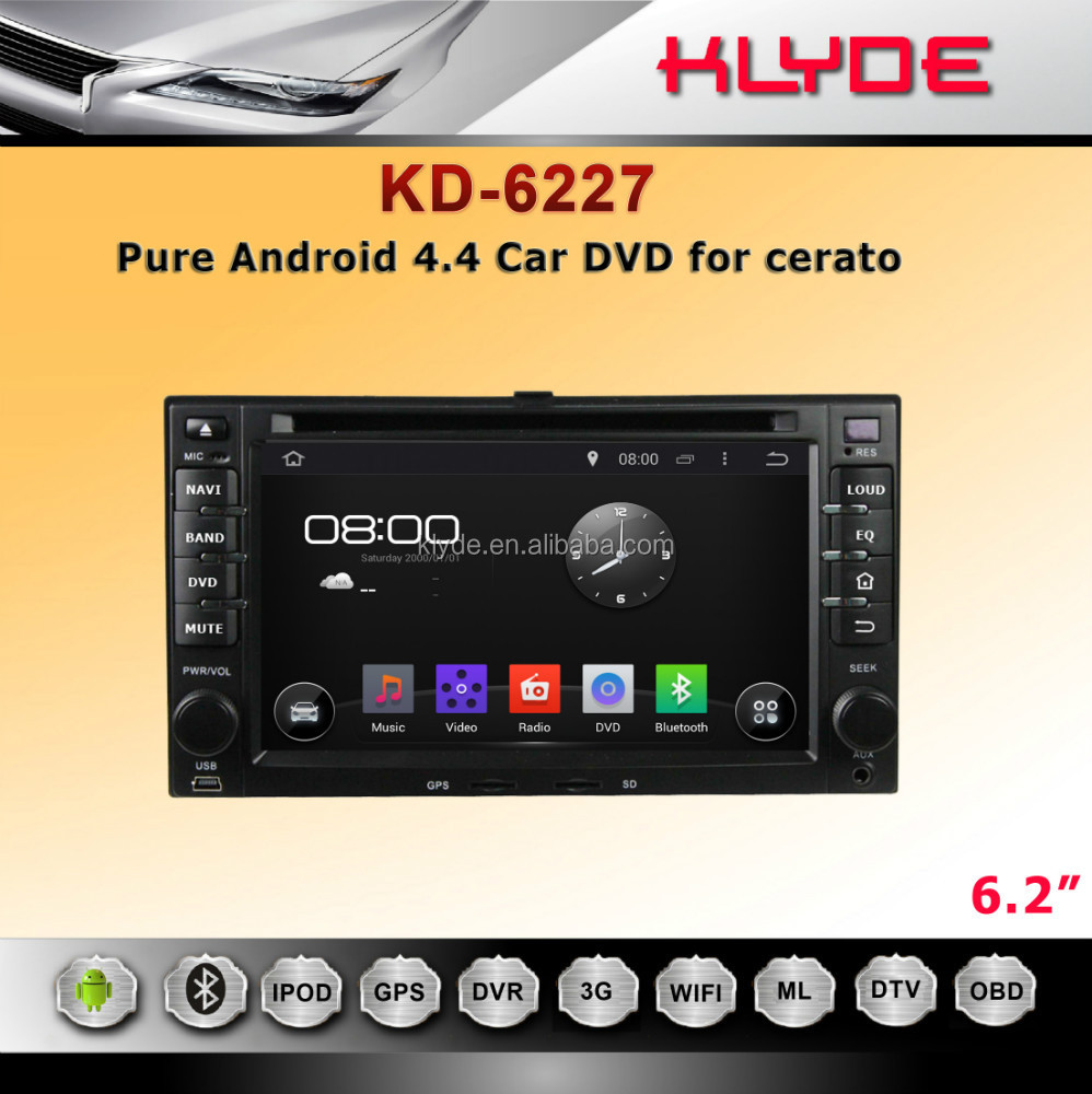 2 DIN PURE ANDROID CAR DVD AUTO RADIO FOR RIO WITH GPS 3G WIFI MIRROR LINK STERING WHEEL CONTROL