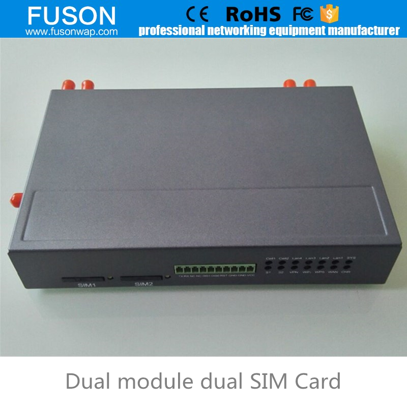 dual module 3g 4g lte sim card wireless router