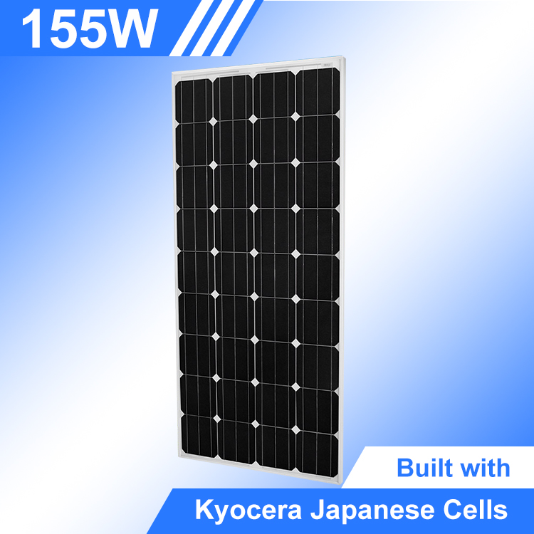 New Arrival Grid-Tied Solar System Monocrystalline 155W Pv Kyocera Solar Panel Price