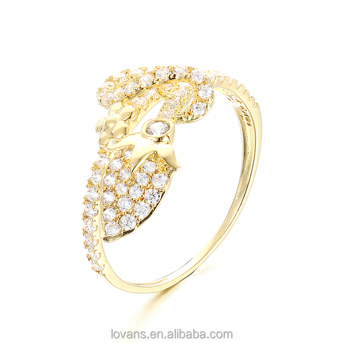 S925 Ring Silver Findings For Jewelry Gold Plated Ring Jewellery SRG492Y