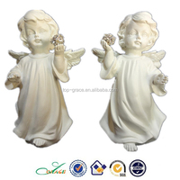 2015 NEW Antique White Resin Angels