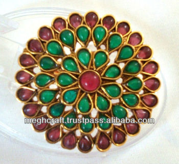 Indian wedding rings - kundan polki rings - antique designer rings - one gram gold rings - wholesale online rings