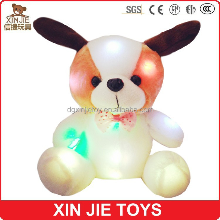 LED plush teddy bear toy singing soft teddy bear toy talking stuffed teddy bear toy
