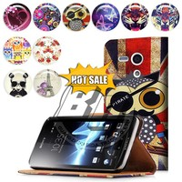 for sony xperia neo l mt25i case , wallet printed pu leather flip case for sony xperia neo l mt25i