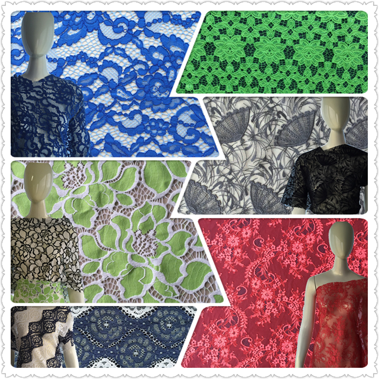 China supplier African style black mesh multi color flower embroidery net fabric for dress