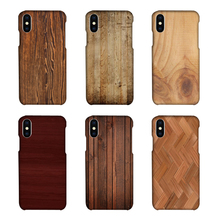 IKFCASE Customized Wood Printed mobile phone shell For iPhone X , 3D sublimation blank phone case for iphone 10