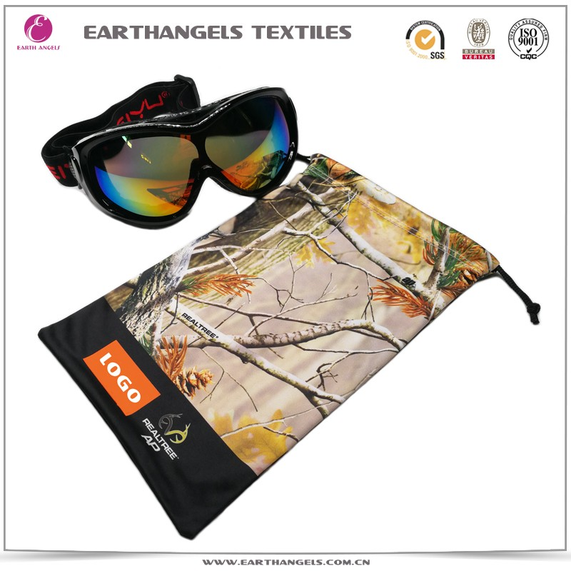 Hot sale logo printing microfiber goggles pouch