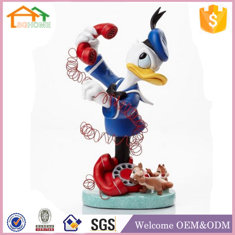 Factory Custom made best home decoration gift polyresin resin duck figurines