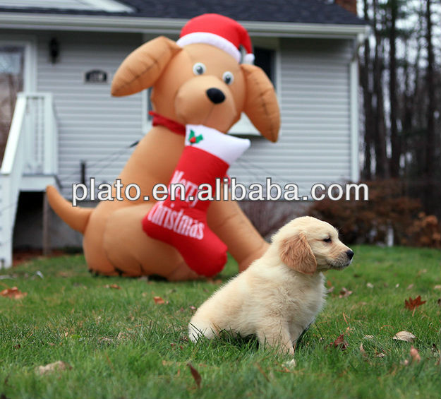 Factory price custom made inflatable bear with hat for outdoor