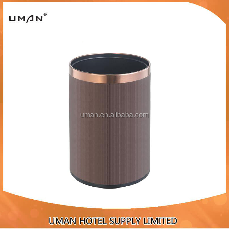 Leatherette room waste bin/dust bin/trash bin