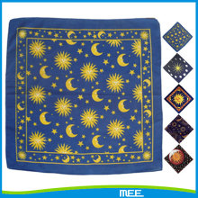high quality cotton custom star sun moon bandana