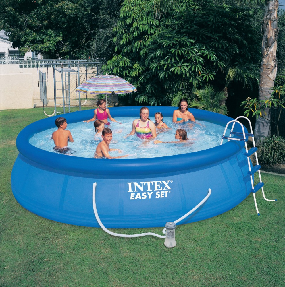 Hot Sale INTEX Family Rectangular / Round Bracket Frame Pool Freestanding Swimming Pool