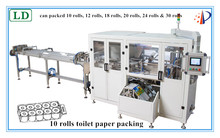 China manufacturer long roll log packing machine for toilet paper roll