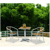 Aluminium wood antique outdoor garden coffee table and chair furniture set