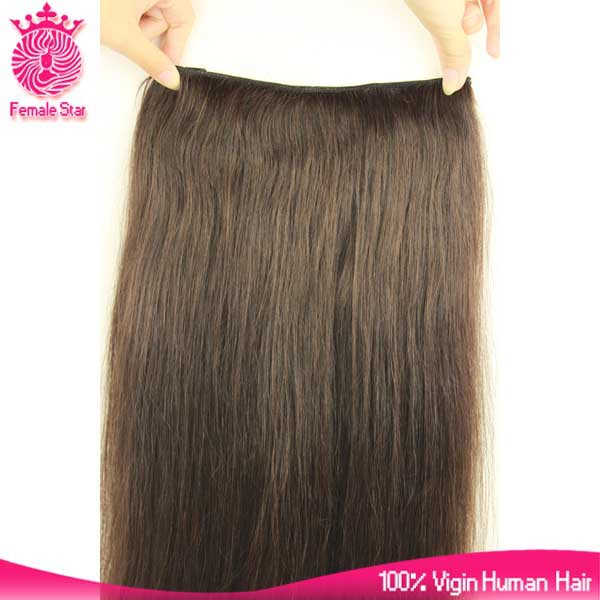 Direct factory virgin indian hair double weft clip in human hair extensions half wig